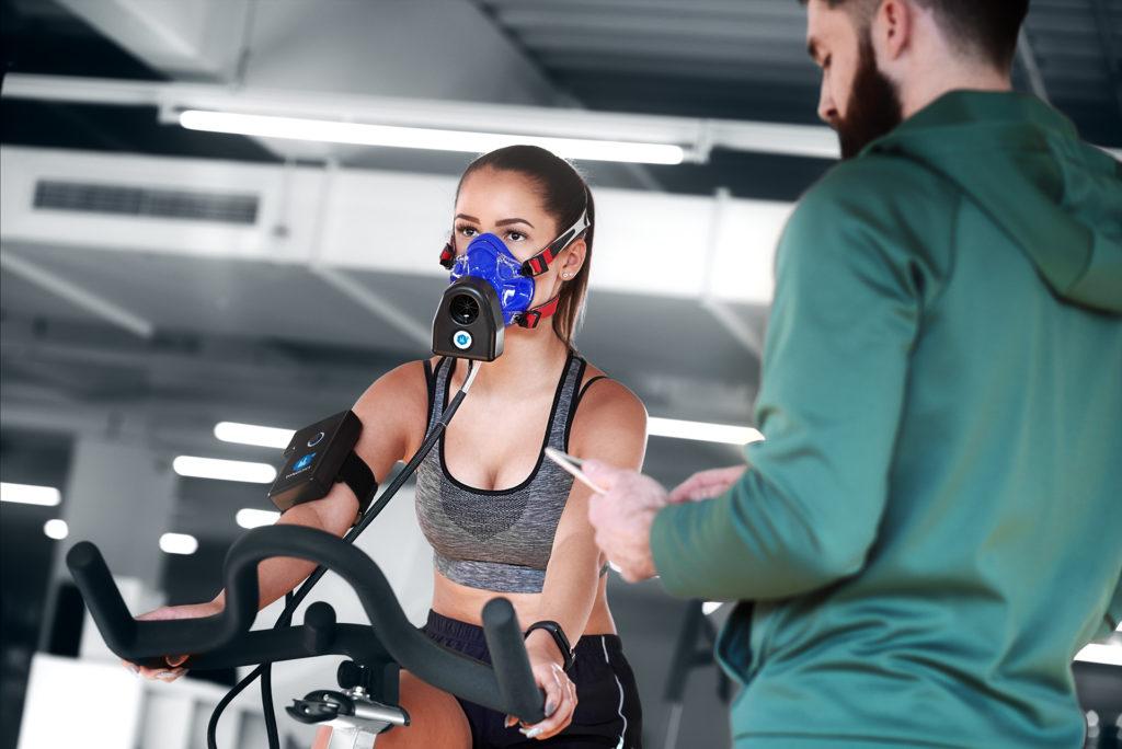 Fahrragergometrie Spirometer im Personal Trainer Training